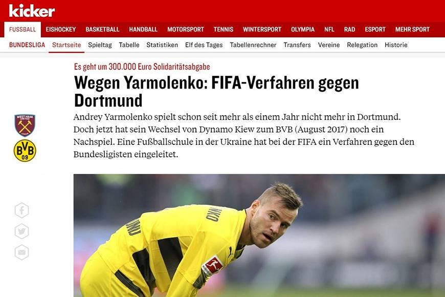 Kicker short Yarmolenko