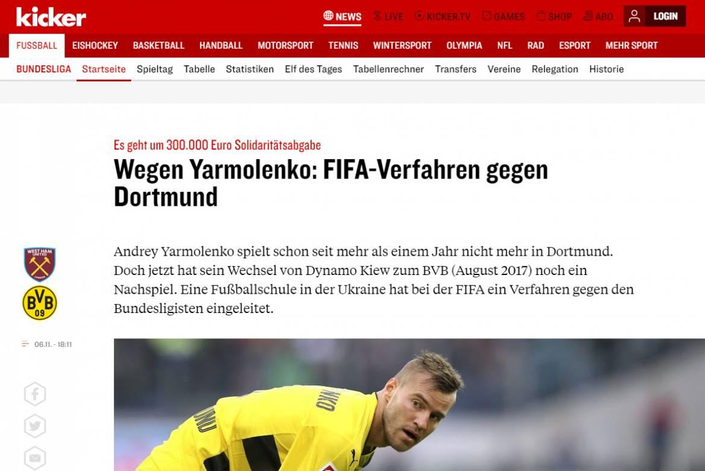 Счет футбола динамо киев боруссия